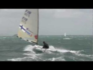 Windy Finn training in Weymouth before the 2012 Olympics