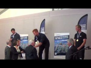 Finn Medal Ceremony - 2013 - ISAF Sailing World Cup Hyeres