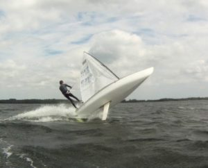 HIGH WIND CONTENDER SKIFF SAILING - GER 2355 DAVID SCHAFFT - Selent