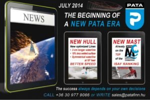 PATA  - New Hull  -  longer waterline - less wetted surface - better speed