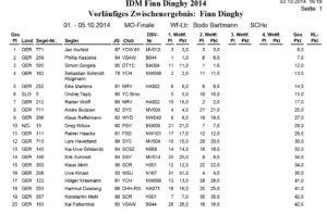 IDM Finn-Dinghy - Wismar - 1. - 5. Okt. 2014 - Tag 1+2