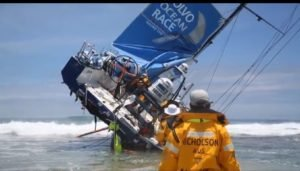 VO-Race - 2014 - Video vom Vestas-Crash