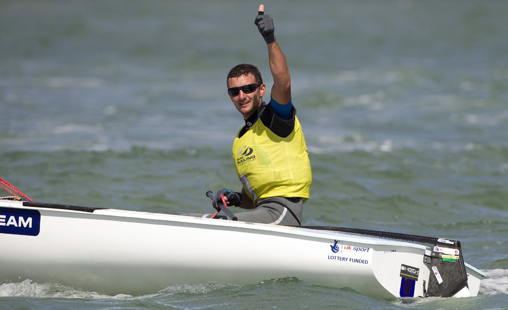 <b>Giles Scott continues unbeaten record after convincing world cup win in Miami 2015</b>