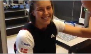 49er Seglerin Marie Thusgaard Olsen - Silbermedaillengewinnerin - beim Training