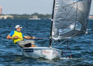 Giles Scott leads line-up of champions into Miami Finn medal race - 2015