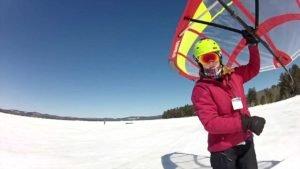 Neue Sportdisziplin - Schnee-Segeln