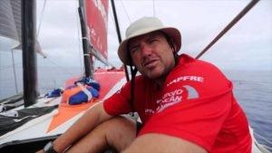 VOR - Finnweltmeister (2007) Rafa Trujillo auf Mapfre in den Doldrums - 2015