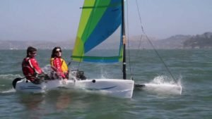 Sailing the Hobie Wave