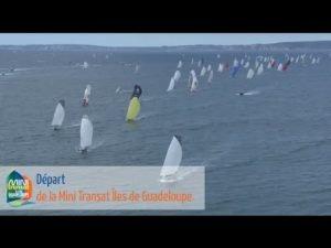 Top départ de la Mini Transat Iles de Guadeloupe
