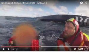 Hugo Boss durchgekentert und entmastet