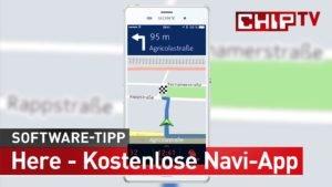 Apps fuer Segler:  Here - Navi-App