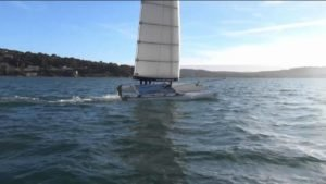 SoftWing - F18 catamaran with a soft wing