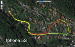 GPS-Test:   IPhone 5S – Motorola Moto G3 – Garmin Vivoactive