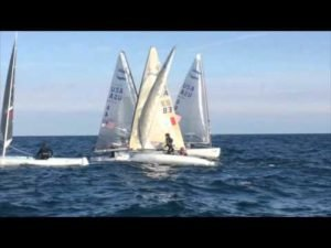 Zach Railey vs Caleb Paine - Finn Europeans - 2016 - Race 6