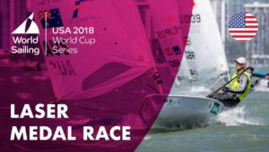<b>Full Laser Medal Race - Sailing's World Cup Series | Miami, USA 2018</b>