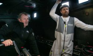 Transat Jacques Vabre - 3.11.19 - Hugo Boss withdrawing from race with keel damage
