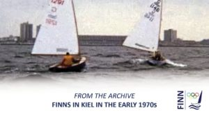 Finn sailing in Kiel in the early 1970s