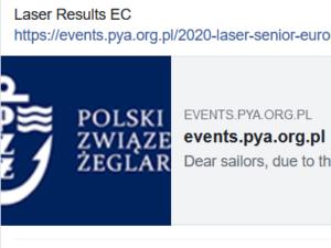 Laser EC 2020 - Results - Gdansk