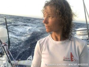 Vendee Globe 2020-12-12 - Isabelle Joschke 1,5 Knoten schneller als Boris