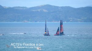 AC75  - 8 Dec -  Luna Rossa vs Te Rehutai - Practice Race