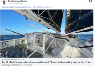 Boris Herrmann: One of the best sailing days so far...