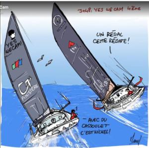 Vendee Globe 2020-12-27 -  Boris Herrmann 5. hinter Jean Le Cam 4.