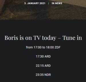 2021-01-03   Boris heute im TV