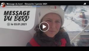 Vendee Globe 2021-01-04 - Isabelle's Kiel-Hydraulik ausgefallen