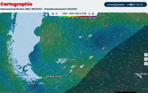 Vendee Globe 2021-01-06  -  Die Top Ten am Horn