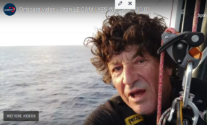 Vendee Globe 2021-01-11  - Jean Le Cam berichtet oben aus dem Mast
