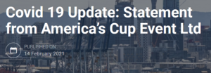 +++ Covid 19 Update: Statement from America's Cup Event Ltd +++