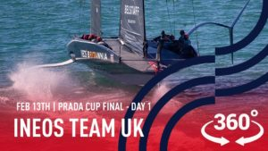 Mitsegeln mit INEOS TEAM UK -  Day 1 - Prada Cup