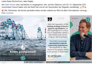 Kieler Woche 2021 - verschoben auf 04.-12. Septemeber 2021