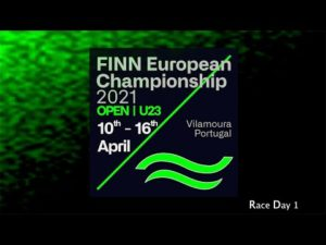 Day 1 at the 2021 Open and U23 Finn European Championship in Vilamoura, Portugal