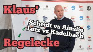 Scheidt gegen Ainslie und Lutz/Beucke gegen Kadelbach/Belcher