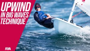 UPWIND IN BIG WAVES - Dinghy Sailing Techniques - How to improve your racing