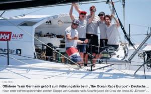 DSV - Offshore Team Germany gehört zum Führungstrio beim 'The Ocean Race Europe'