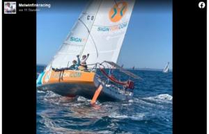 Mini Fastnet 2021 - Melwin Fink aktuell auf Rang 8