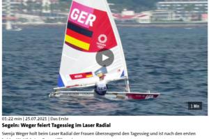 Olympia 2021 - Tag 1 - Svenja Weger mit Tagessieg im Laser Radial