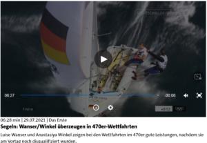 Olympia 2021 -  Wanser/Winkel überzeugen in 470er Video